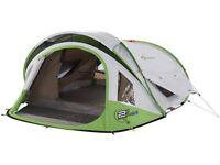 Tent and trailer (Complete camping set) : Multi-purpose trailer, 3-man self-erect tent plus more:
