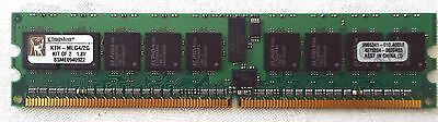 KINGSTON 1GB PC2-3200 DDR2-400MHz ECC REGISTERED CL3 240-Pin DIMM KTH-MLG4/2G
