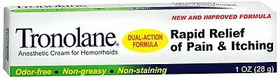 Tronolane Anesthetic Cream for Hemorrhoids 1 oz (Pack of 2)