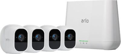 Arlo - Pro 2 4-Camera Indoor/Outdoor Wireless 1080p Security Camera System - ...