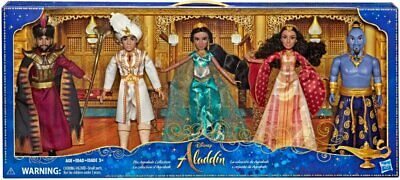 Hasbro Disney Aladdin Agrabah Collection 5 Fashion Dolls Live Action - VG