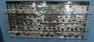Star Trek miniature ships from Fasa.  With a wall mount display