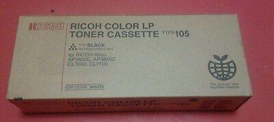 GENUINE RICOH 885372 BLACK TONER Aficio AP3800C AP3850C CL7000 CL7100 Type 105