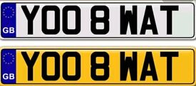YOU ATE WHAT a very unusual private number plate for sale