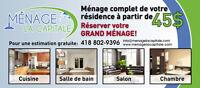 Ménage résidentiel,commercial et grand ménage