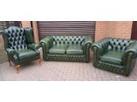 Chesterfield leather, 3 piece suite. EXCELLENT CONDITION! BARGAIN!