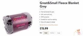 Dog Great&Small Fleece Blanket Beige&Grey (BRAND NEW, FROM £8)