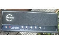 Rebuilt custom circuit Carlsbro 60w valve amplifier tube amp hand wired PTP DIY