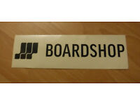 "Brand New BOARDSHOP Vinyl Surf Sticker - sized 2.5"" x 8"""