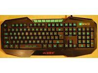 PC Keyboard with Illuminated keys
