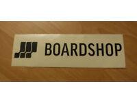 "Brand New BOARDSHOP Vinyl Surf Sticker - sized 2.5"" x 8"""