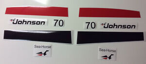 Johnson Outboard Decals 70 hp
