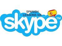 Skype Spanish lesson. Native Spanish Teacher