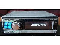 CAR HEAD UNIT ALPINE CDA 9855R MP3 CD PLAYER GLIDE TOUCH 4x 50 AMPLIFIER AMP STEREO RADIO