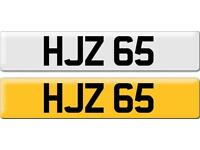 *HJZ 65* Dateless Personalised Cherished Number Plate Audi BMW M3 Ford VW Caddy Mercedes Vauxhall