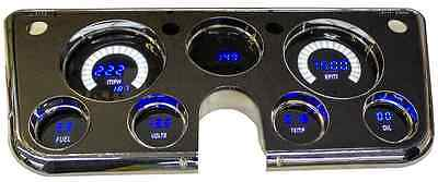 67-72 CHEVY GMC TRUCK DIGITAL Dash Custom Cluster Gauges BLUE and WHITE LEDs