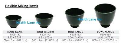 Dental Laboratory Rubber Flexible Mixing Bowl Green Small Medium Large X-large