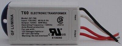 2 pcs 60W 120V to 12V AC Converter Electronic Transformer for Halogen / LED - 60w 12v Ac Transformer