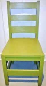 XL c.1900 PEA GREEN Chair Antique Vintage