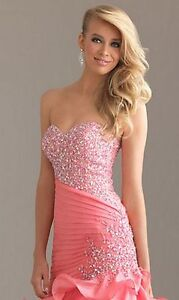 Pink Strapless Beaded Dress by Night Moves Windsor Region Ontario image 2