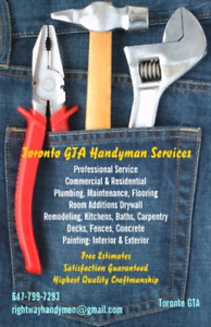 Handyman Services on call Toronto
