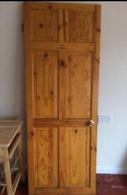 Door internal six panel pine, size 28 x 27,5 inches, £18.00