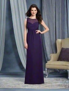 Eggplant bridesmaid/grad/date dress