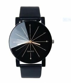 Mens/womens Leather Wristwatch Quartz