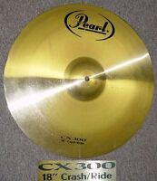 Pearl cymbal ride crash 18 in