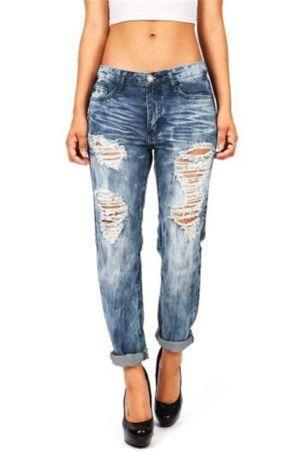Distressed Skinny Jeans Womens