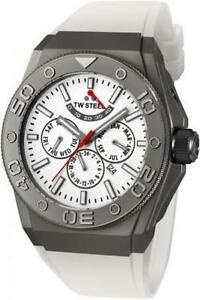 TW Steel CEO Diver Multi-Function Automatic White Dial Titanium-  CE5003