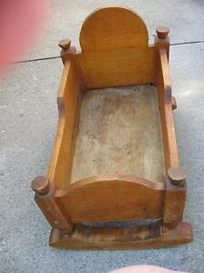 Doll Cradle Handcrafted Wood - REDUCED