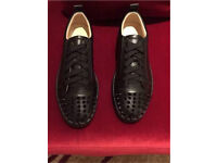 Christian Louboutin leather junior spikes Brand new