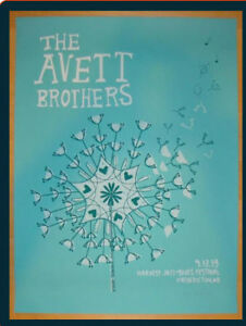 Looking for Fredericton Avett Brothers poster from 2013