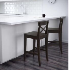 Black ikea bar stool