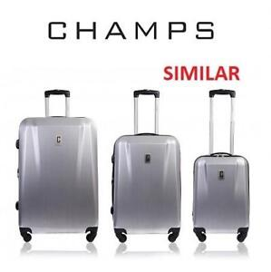 NEW CHAMPS 3PC SPINNER LUGGAGE SET S4005 231228604 TRAVEL DARK GREY GRAY