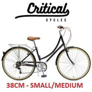 NEW* CRITICAL CYCLE COMMUTER BIKE 2378 188933399 7 SPEED BICYCLE BEAUMONT 38CM SMALL/MEDIUM LADY'S BLACK