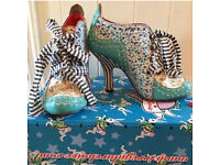 Irregular choice Abigail's party iced gem floral dandy Alice in wonderland boots UK 5 38 NO BOX