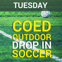Tuesday Coed Outdoor Drop-In Soccer (16+)