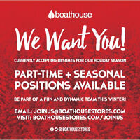 Boathouse - Part Time Positions