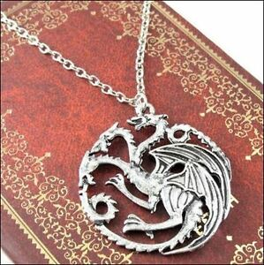 GOT Targaryen Silver Pendant Necklace