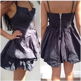 All Saints Charcoal Grey Dress (Vivienne Westwood inspired) size 10