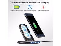 Wireless Charger, 1.5M Ultra-long USB Cable for iPhone X/ 8/ 8 Plus, Samsung S8/ S8 Plus/ Note 8