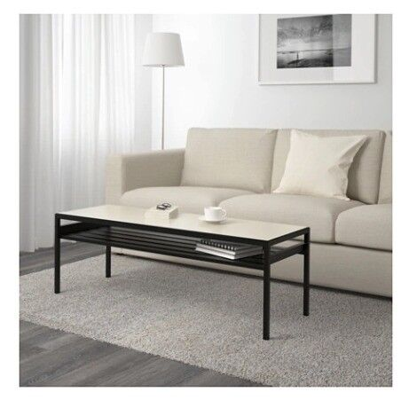 Ikea Nyboda Coffee Table Black Reversible Top