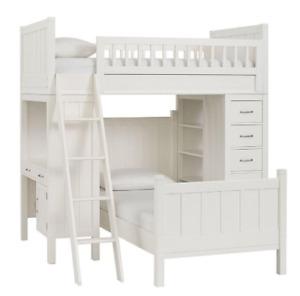 Pottery Barn Kids - Camp Twin Loft System & Lower Bed Set