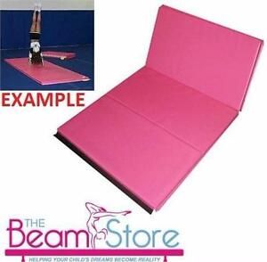 "NEW THE BEAM STORE GYM MAT PINK  4'x6'x2"" - FOLDING MAT TUMBLING GYMNASTICS 82663971"