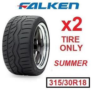 2 NEW FALKEN AZENIS SUMMER TIRES - 113421612 - EXTREME PERFORMANCE 315/30R18 90W