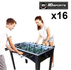 16 MD SPORTS 48-INCH SOCCER TABLES FOOSBALL JITZ TABLE - CORNER KICK - SPORTS RECREATION GAME ROOM GAMES TABLES