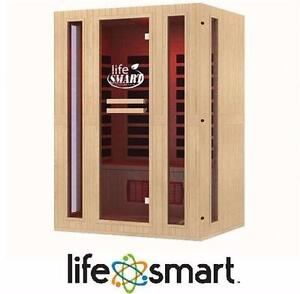 NEW LIFESMART 3 PERSON SAUNA ROOM SIGNATURE INFRACOLOR FULL SPECTRUM INFRARED 9 DUAL TECH HEATERS MP3 REMOTE 98201119