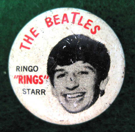 RINGO STARR BEATLES ORIGINAL 1964 PINBACK BUTTON #587